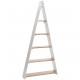 Wooden triangle shelf Lynn , L80cm, B17cm, H168cm,